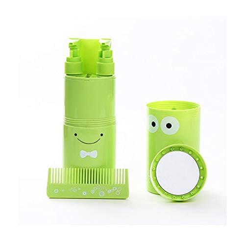 Travel Wash Cup Toothbrush Box Portable Storage Empty Bottle Travel Goods Travel Care Set (Color : Green)