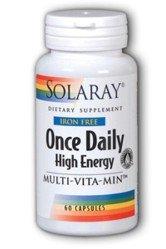 SOLARAY После Daily высоких энергий Multi-Вита-Мин Iron Free - 60 капсул
