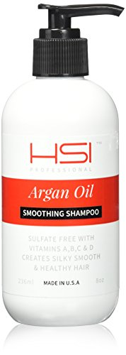 Silk Smoothing Shampoo (HSI Professional Smoothing Shampoo with Argan Oil, 8 Ounce(Packaging may vary))