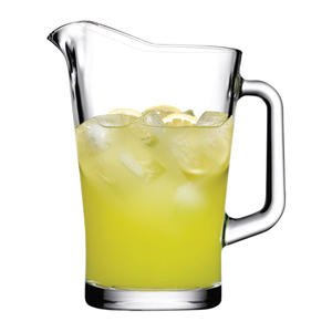 Hospitality Glass Brands 60 oz Glass Pitcher, Case of 6 (Bottle Flacon)