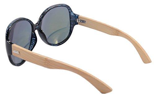 SHINU Reiten Radfahren Sonnenbrillen Bambusrahmen Sports übergroße Sonnenbrille-6101 (leopard gradient brown) GnmbRBhQL0