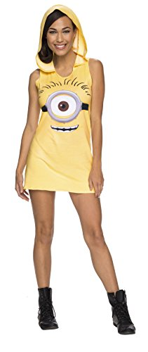[Rubie's Costume Co Women's Minion Hooded Tank Dress, Yellow, Small] (Adult Minions Costumes)