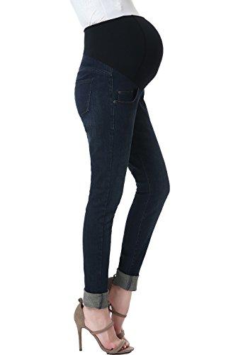 (Momo Maternity Women's Skinny Leg Denim Jeans - Dark Indigo 28)