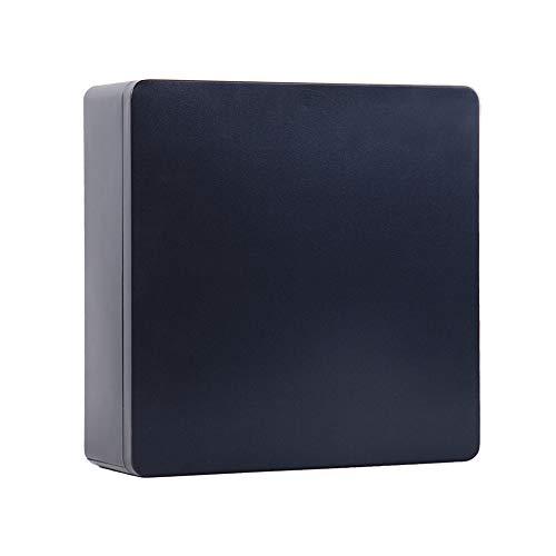 Tianhui Classic Box Rectangular Black Empty Tin Box Containers, Gift, Jewelery and Storage Tin Kit, Home Organizer -8.5x8.5x3 inch (Black, Square)