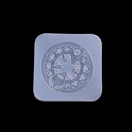 Misright Magic Circle Resin Casting Molds Silicone Mould for Pendant Bangle Bracelet Jewelry Making DIY Baking Craft Tool