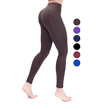PengShi Bolsillos Laterales Pantalones de Yoga Gruesos Pantalones ...