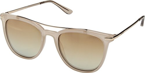 e8a03461f54 GUESS Womens GF6062 Milky Light Brown With Rose Gold Light Gold Flash Lens  One (