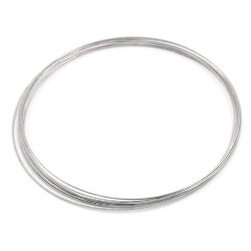 100Loops Memory Wire Necklace Craft Findings 115mm - Necklace Wire Memory Plated
