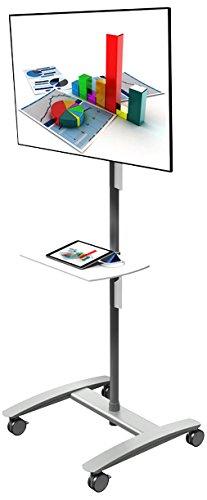 Dataflex 52.712 ViewMaße Combo AV Trolley für Monitor silber