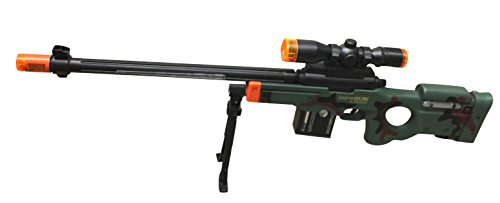 AW50 Sniper Military Combat Toy Machine Gun with Colorful LED Light and Sound Effect by Quest Toys (Image #3)
