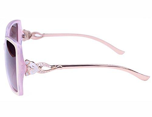 Ms Lunettes Polarisées Noir de Lunettes Soleil Couleur Lunettes Pink Anti Beige Fashion UV de Soleil EwBvpFRnqw