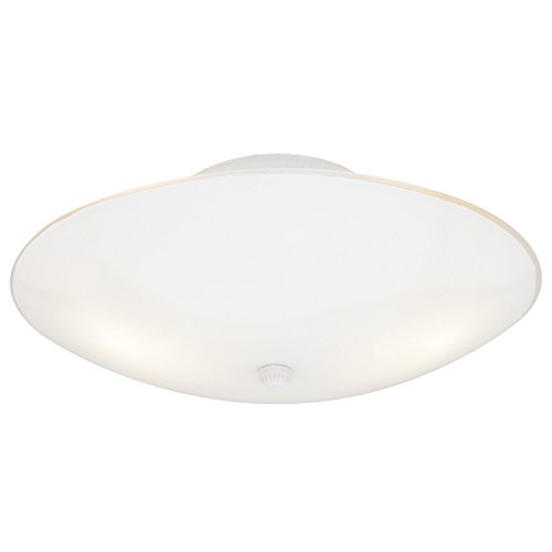 (Westinghouse Lighting 66242 Westinghouse 6624200 Two-Light Semi-Flush-Mount Interior Ceiling Fixture, Finish with White Glass )