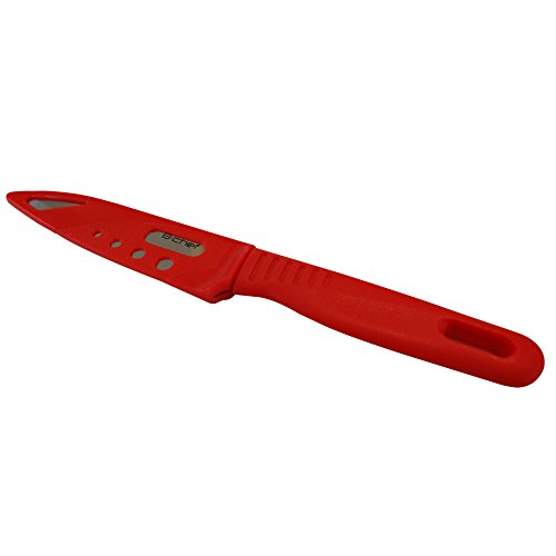 Paring Knife with Sheath is The Perfect Fruit Knife and An Essential Tool For Your Kitchen. The Protective Guard On This Knife Makes It Ideal For Camping or Travel. Also great for Hulling Strawberries