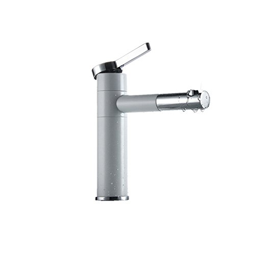 Cool Maple Industry Countertop White Painting Brass Made Bathroom Basin Faucet Vessel Sinks Mixer Vanity Tap Swivel Spout Deck Mounted