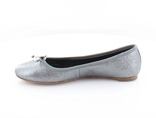 Gunmetal Flats Flatiron Rock Ballet Metallic Toe Womens Closed Coach aqwFHH