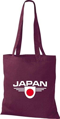 Shirtstown Japón Países Burdeos De Tela Land Emblema Bolsa twg4qrt