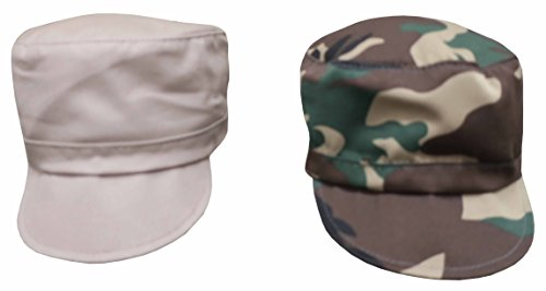nice-caps-baby-and-toddler-boys-classic-painter-cap-1-or-2pc-pack-12-18-months-green-camo-khaki-pair