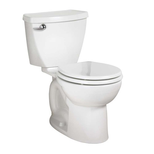 - American Standard Cadet 3 Right Height Round Front Flowise Two-Piece High Efficiency Toilet with 12-Inch Rough-In, White White