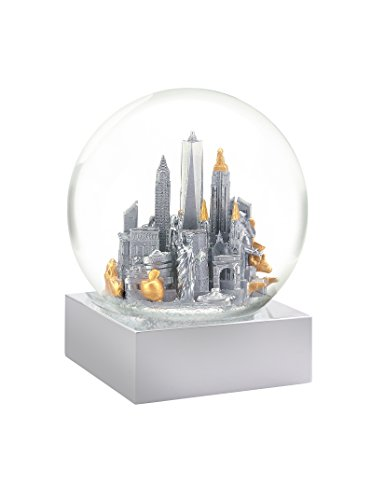 CoolSnowGlobes New York City Silver Cool Snow Globe
