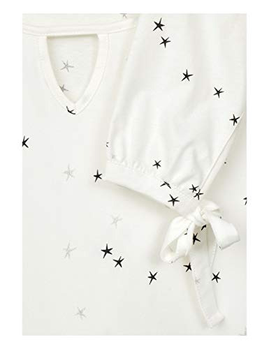 Manga pure Cecil 30125 Off Mujer White Multicolor Camisa Larga Para AwxqUH5w1