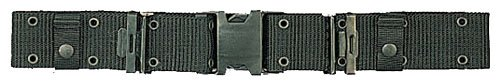 Black Marine Corp Style Quick Release Pistol Belt - Extra Large