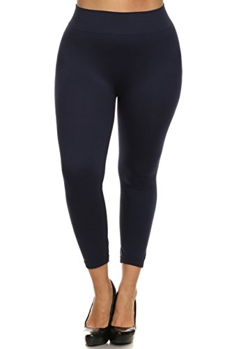 New Kathy, Plus Size Leggings, Brown 31RC6 8WpDL