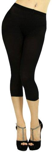 Rhinestone Black Leggings (ToBeInStyle Women's Rhinestone Footless Leggings, Black, One Size)
