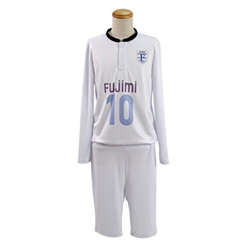 Custom Football Costumes (Xiao Maomi Mens Cosplay Costume White Football Suit Handsome Sportswear (Custom-made, White))