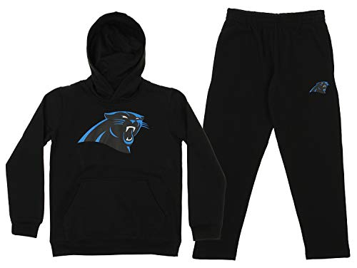 - Outerstuff NFL Youth Team Color and Fleece Hoodie Set, Carolina Panthers Small 8
