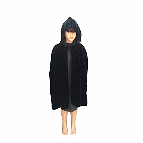Shrub Costume (Rurah Unisex Kids Hooded Cloak Halloween Party Decoration Role Cosplay Costumes Outwear,Children black,S)