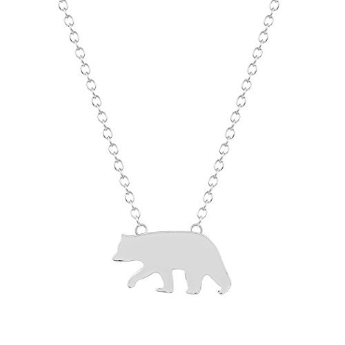 ONE A DAY dayone Handmade Plating Alloy Smart Polar Bear Pendant Long Jewelry Necklace Unisex Statement Necklace