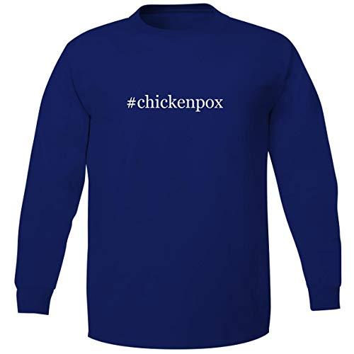 Bucking Ham #Chickenpox - Adult Soft Long Sleeve T-Shirt, Blue, Small