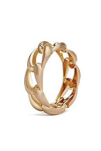 Chunky Chain Bracelet Wrap Hinge Cuff Bangle Curb Link Statement Metal Wristband (matt - Buy Wristbands