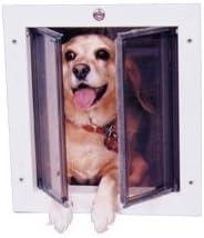 Small Plexidor Dog Door Cat Door for Walls White