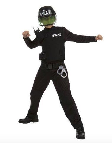 Boy SWAT Halloween Play Costume, Large. (Bin 2) -