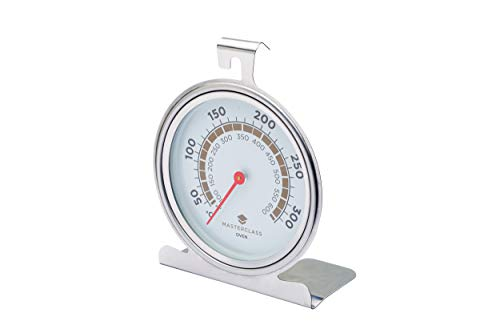 KitchenCraft MasterClass Termometro da Forno 50-300 Gradi Celsius, Acciao Inox, Argento 1