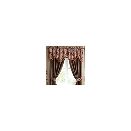 CROSCILL Claret Red VALENTINA Paisley SCALLOPED WINDOW VALANCE ()