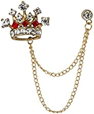 Knighthood Men's Crown Chain Brooch for