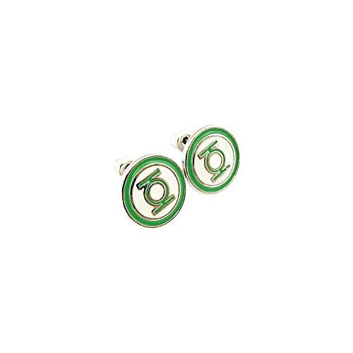 (DC Green Lantern Logo Superhero Comics Cartoon Post Stud Earrings In Gift)