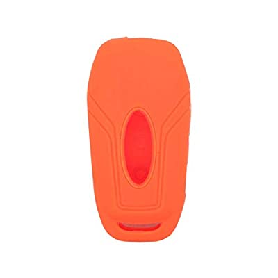 SEGADEN Silicone Cover Protector Case Skin Jacket fit for FORD 3 Button Flip Remote Key Fob CV4709 Orange: Automotive