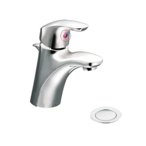 Brushed Nickel Plug Button - Cleveland Faucets 42005BN Baystone Single Handle Bathroom Faucet Plug Button, Brushed Nickel