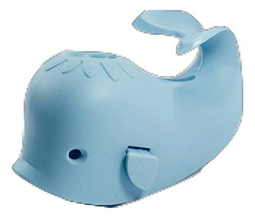 Aurelie Live Well Faucet Cover Baby (Blue Whale) & Bath Toy Organizer for Kids Bath Toys and Comes with 5 Bath Tub Squirts/Toys