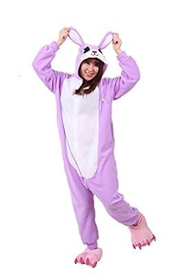WOTOGOLD Animal Cosplay Costume Unisex Adult Purple Rrabbit Pajamas