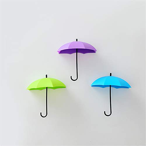 Fhing 6 Pieces and 3 Pieces of Self-Adhesive Wall Key Clothes Hook Shelf Umbrella Decoration Accessories Home Decoration Accent Gift ()