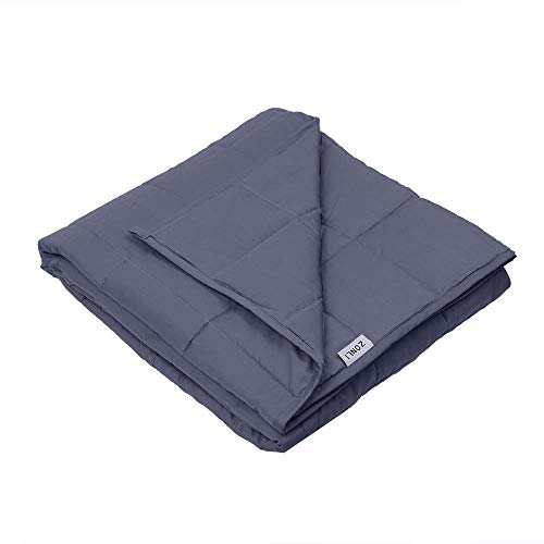 ZonLi Small Weighted Blanket (41''x60'', 7lbs 50-90lbs Individual, Grey) Children, Girls Boys | Great Insomnia, Autism, ADHD, Stress Relief | Fit Twin Full Sized Bed by ZonLi