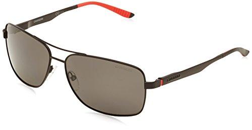 Carrera Men's CA8014S Polarized Rectangular Sunglasses, Matt