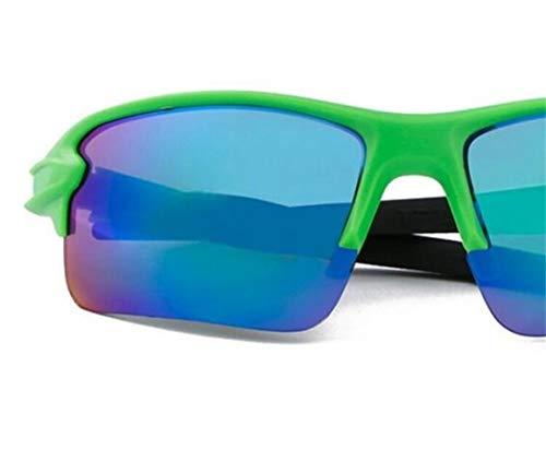 para viajar de Huyizhi de de protección de los Dark un Gafas de deporte la sol hombres de Guay sol Green para del gafas UV400 mujeres completar las ciclo las 8Urw8qF1