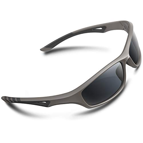 RIVBOS Polarized Sports Sunglasses Driving Glasses Shades for Men Women Tr90 Frame for Cycling Baseball Running ()