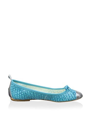 Aqua Soft Patricia Metallic Dress Paris Flats Green Women's zqqw41R
