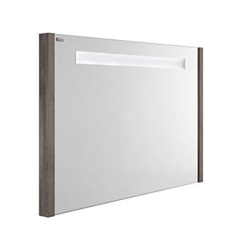 VALENZUELA Roma 32 Inch LED Backlit Bathroom Bathroom Vanity Mirror, Wall Mount, Ash Finish (VELU08090E) by DAX
